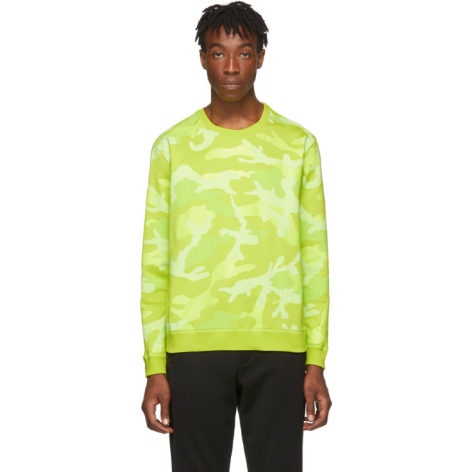 Photo: Valentino Yellow Camouflage Sweatshirt