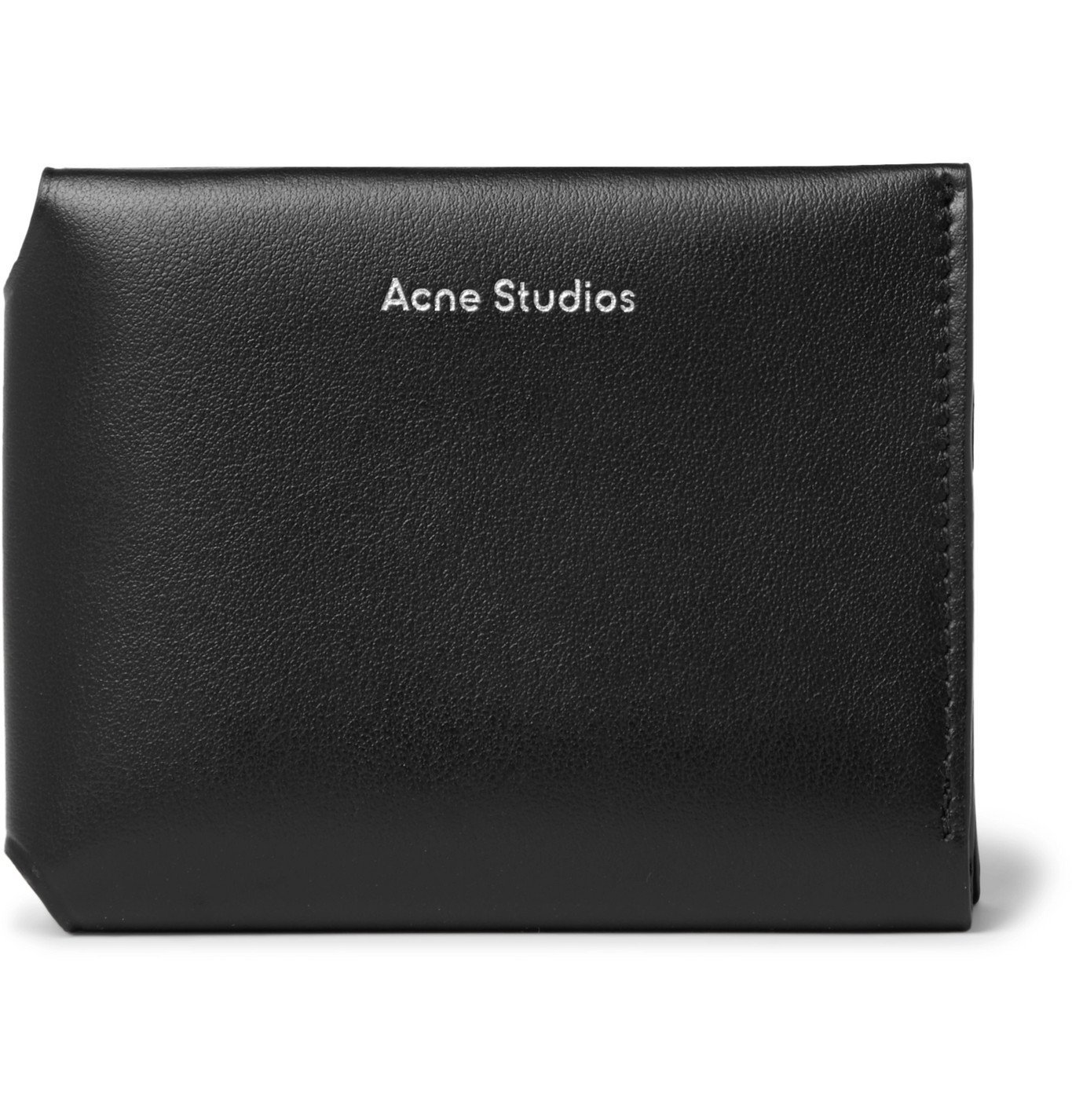 Photo: Acne Studios - Leather Trifold Wallet - Black