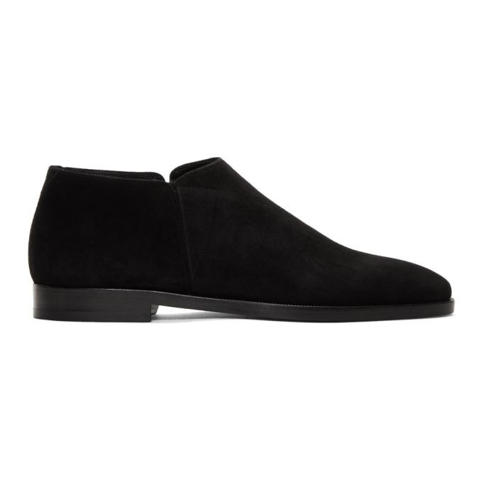 Photo: Saint Laurent Black Suede Slim Chelsea Boots