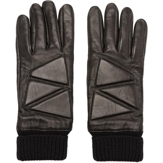 Photo: Bottega Veneta Black Leather High Frequency Gloves