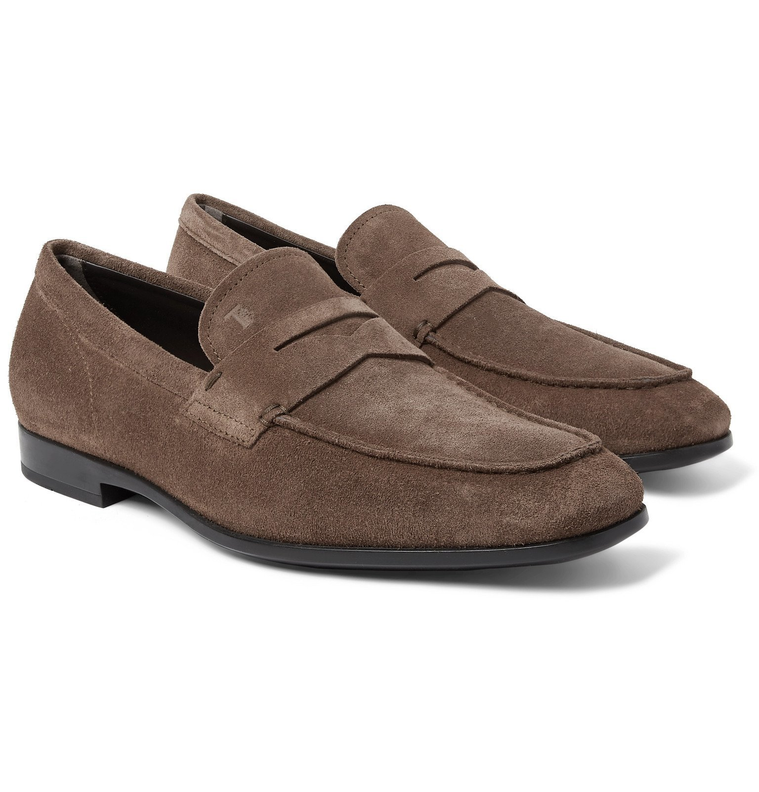 Photo: Tod's - Suede Penny Loafers - Brown