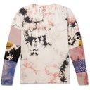 KAPITAL - Panelled Printed Tie-Dyed Cotton-Jersey T-Shirt - Multi