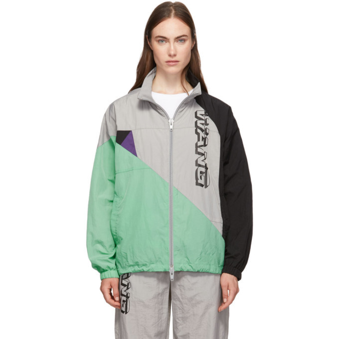 Photo: alexanderwang.t Grey Wash and Go Colorblock Jacket