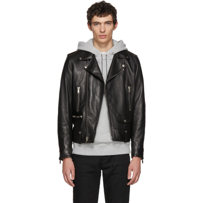 Photo: Saint Laurent Black L01 Moto Jacket