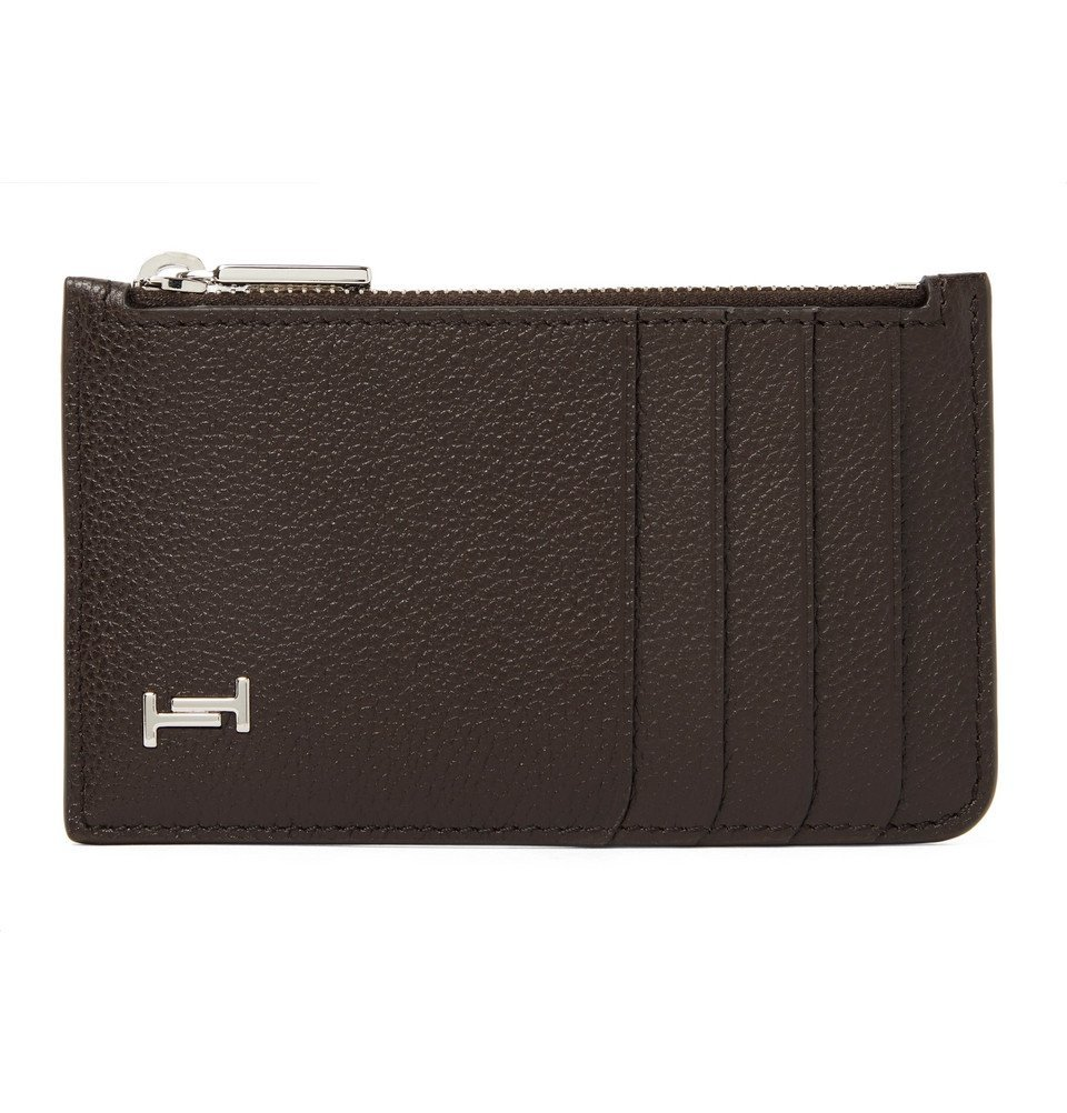 Photo: Tod's - Logo-Appliquéd Full-Grain Leather Cardholder - Dark brown