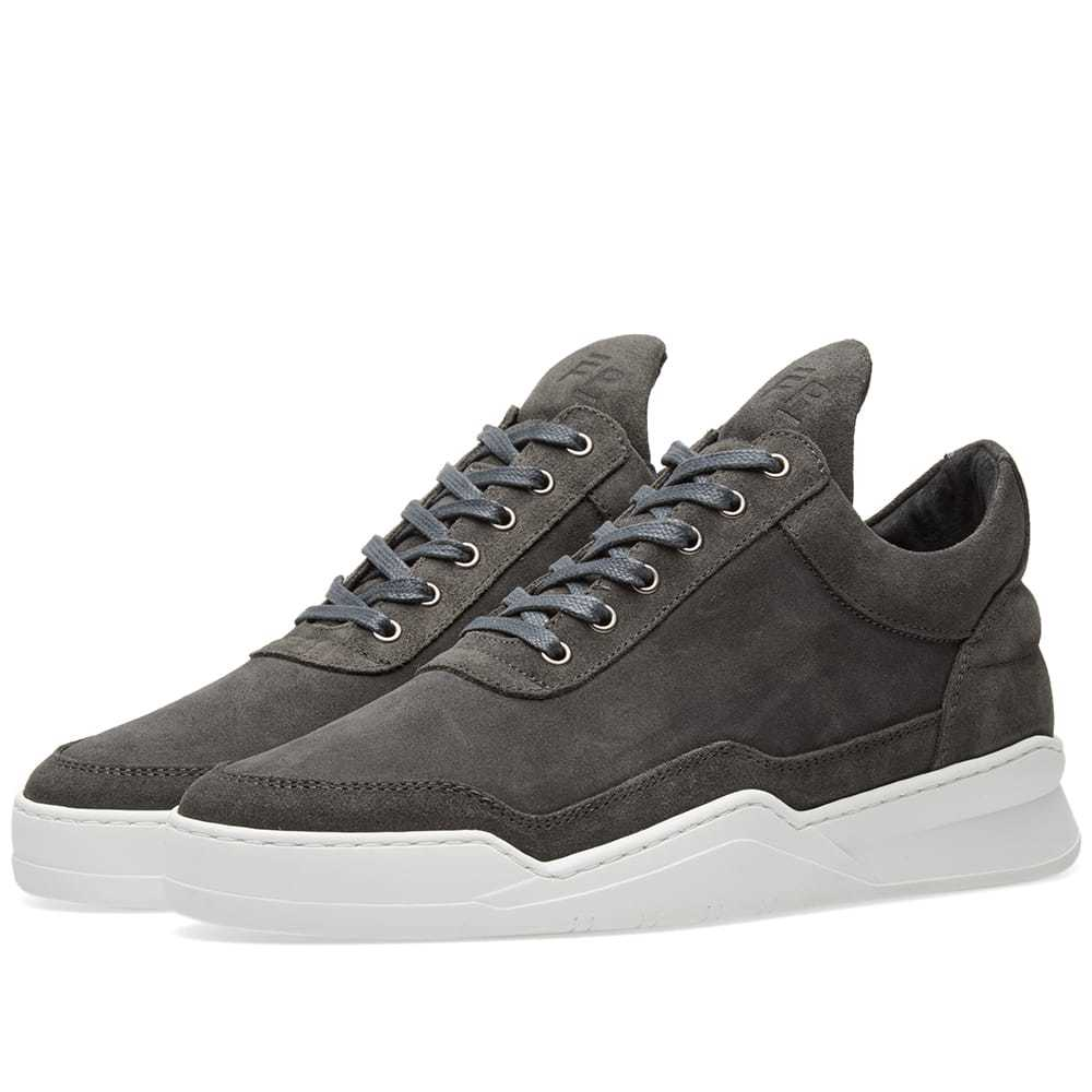 Photo: Filling Pieces Low Top Ghost Waxed Suede Sneaker