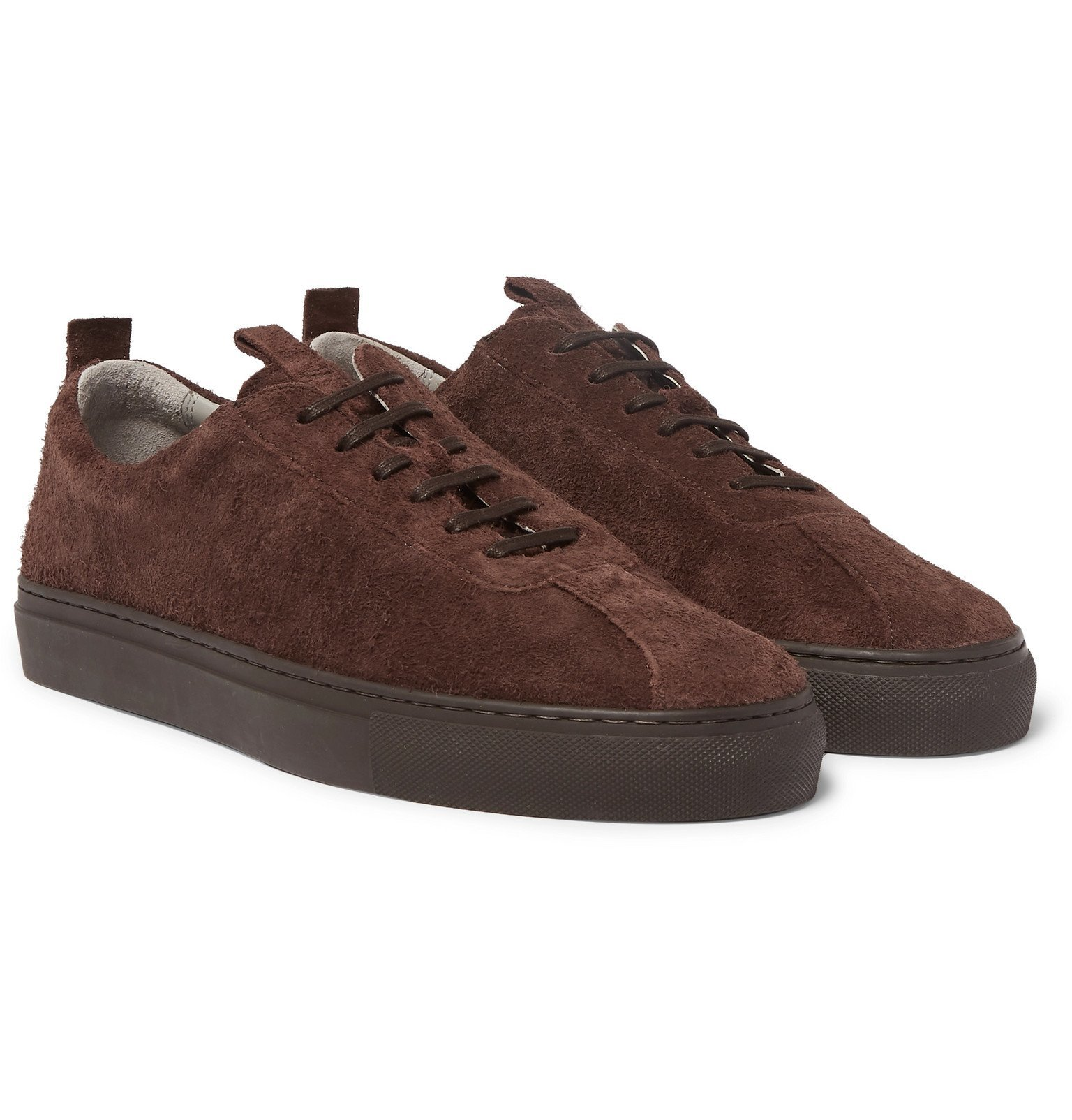 Photo: Grenson - Textured-Suede Sneakers - Brown