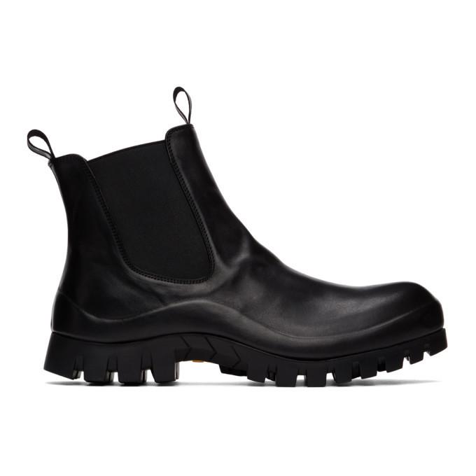 Photo: Officine Creative Black Cleantrek 1 Chelsea Boots