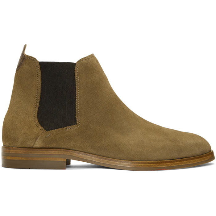 Photo: H by Hudson Brown Suede Tonti Chelsea Boots