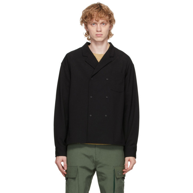 Photo: Kenzo Black Wool Shirt Jacket