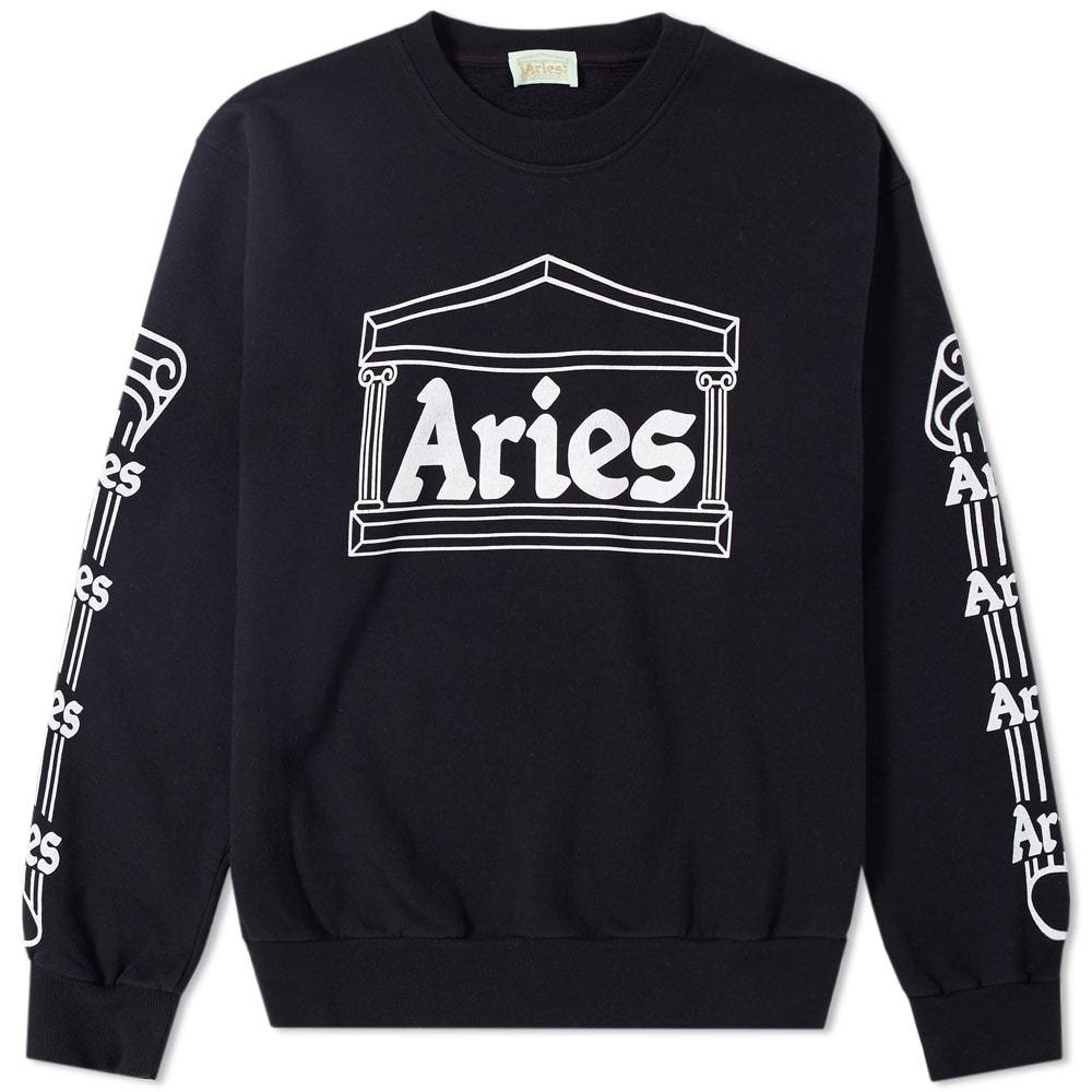 Aries Temple Crew Sweat Black