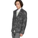 Stella McCartney Black and Grey Wool Bobby Check Blazer