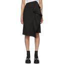 Sacai Black Glencheck Frayed Skirt