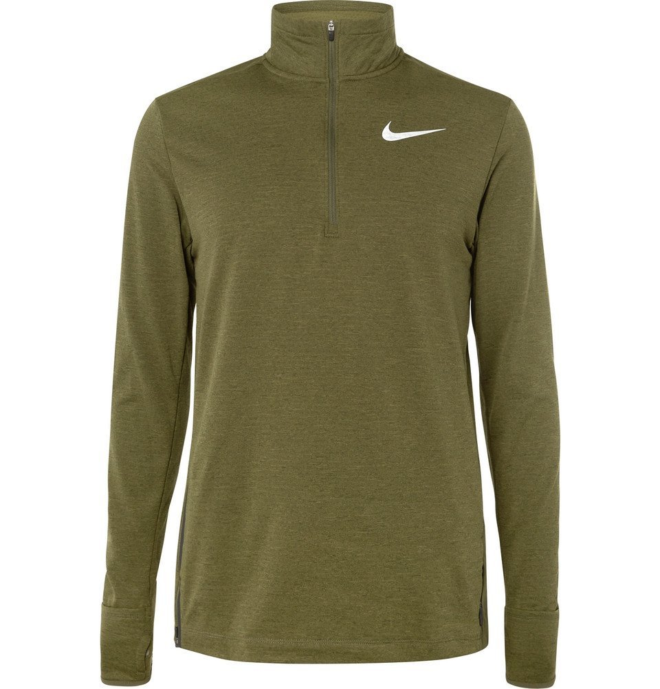Photo: Nike Running - Element Therma-Sphere Dri-FIT Half-Zip Top - Men - Green