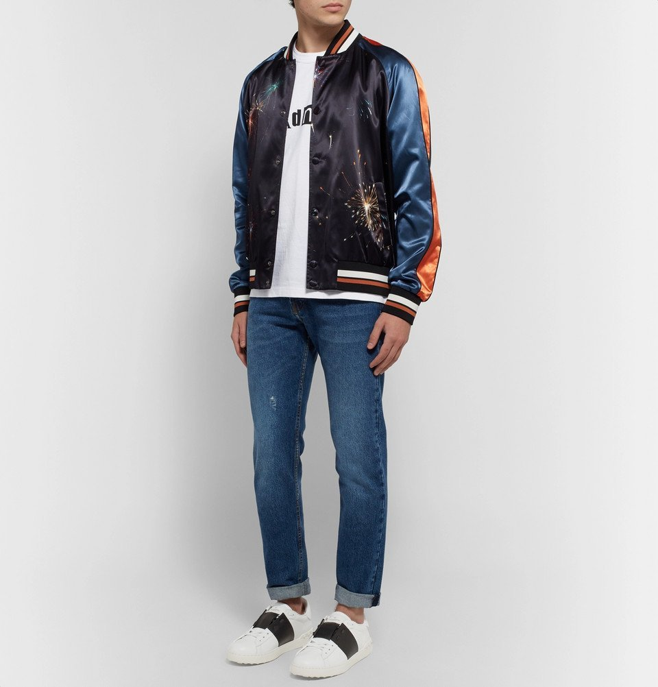 Valentino Garavani Open Striped Leather