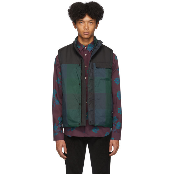 Photo: PS by Paul Smith Green and Navy Tartan Vest