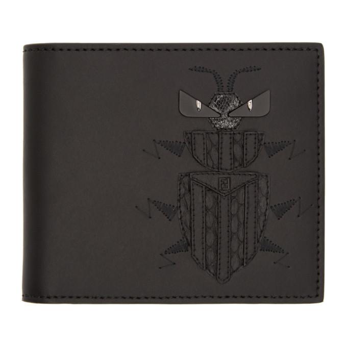 Photo: Fendi Black Super Bugs Bifold Wallet