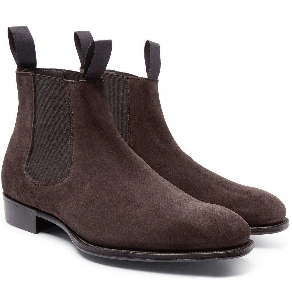 Photo: Kingsman - George Cleverley Suede Chelsea Boots - Dark brown