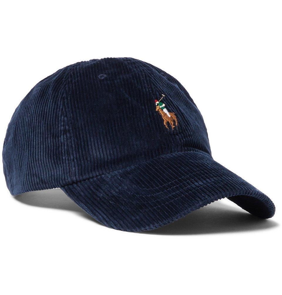 Photo: Polo Ralph Lauren - Logo-Embroidered Cotton-Blend Corduroy Baseball Cap - Navy