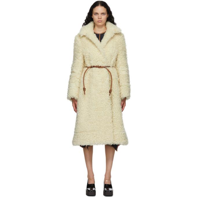Stella McCartney Off-White Fuzzy Elena Coat