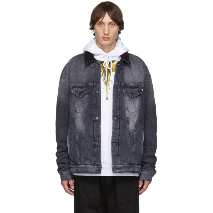 Photo: Marcelo Burlon County of Milan Grey Denim Vintage Wash Jacket