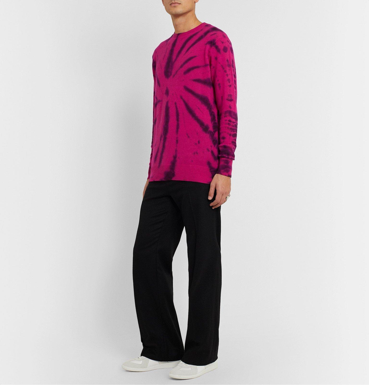 The Elder Statesman - Tie-Dyed Cashmere Sweater - Pink