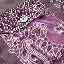 KAPITAL - Patchwork Bandana-Print Denim Jacket - Purple