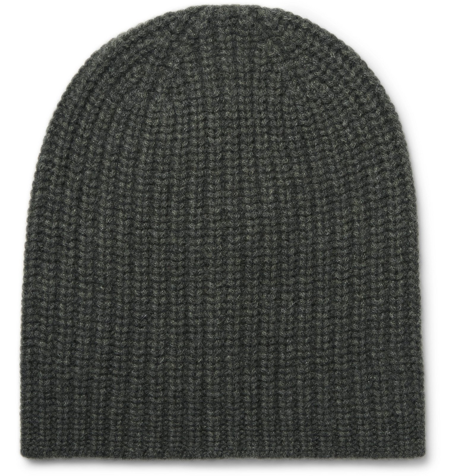 Photo: Alex Mill - Ribbed Cashmere Beanie - Green