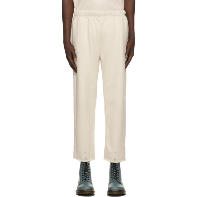 Photo: Les Tien Off-White Front Snap Lounge Pants