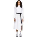 Sacai White Shirting Dress