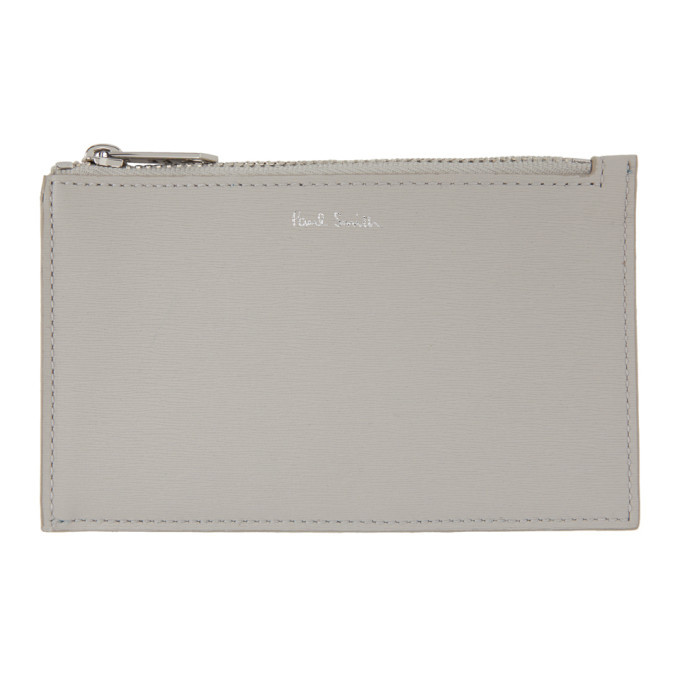 Photo: Paul Smith Grey Straw Pouch Card Holder