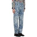 Martine Rose Blue Jacquard Vintage Jeans
