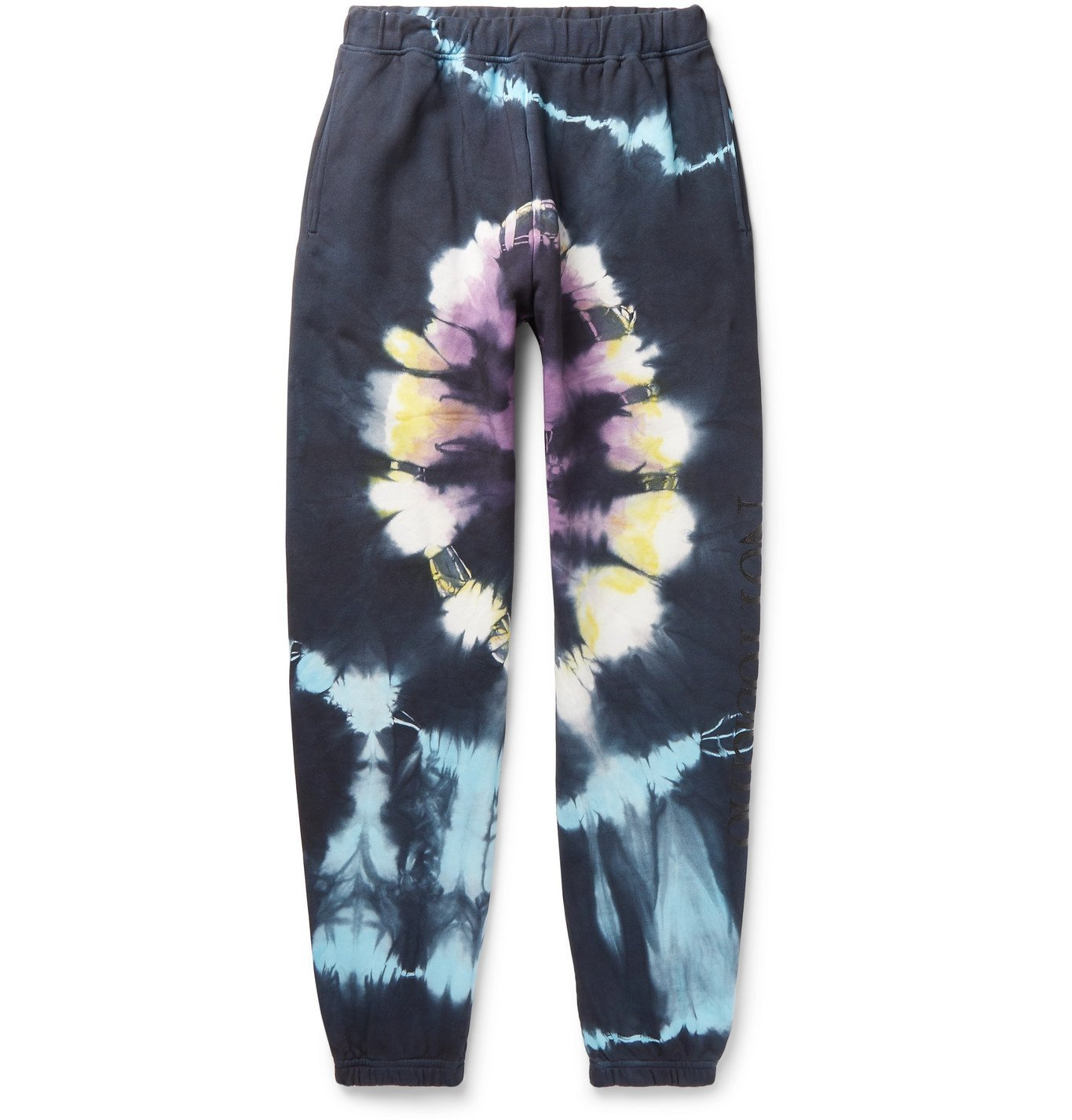 ARIES - No Problemo Headlights Tapered Tie-Dyed Fleece-Back Cotton-Jersey Sweatpants - Multi