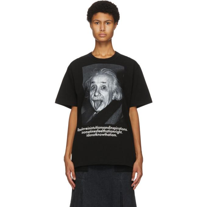 Sacai Black Einstein T-Shirt