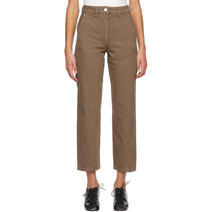 Photo: Lemaire SSENSE Exclusive Brown Twisted Jeans
