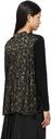 Sacai Black Pleated Floral Print Cardigan