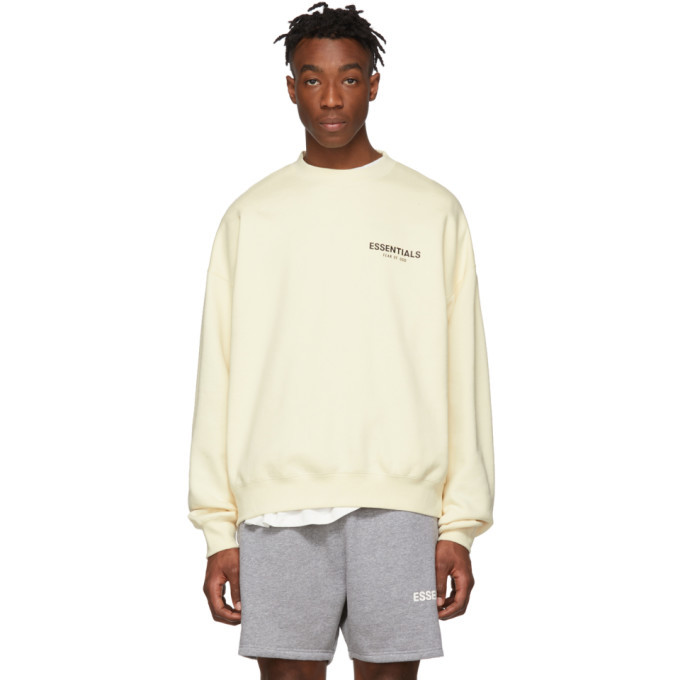 Photo: Essentials Off-White Pullover Crewneck Sweatshirt