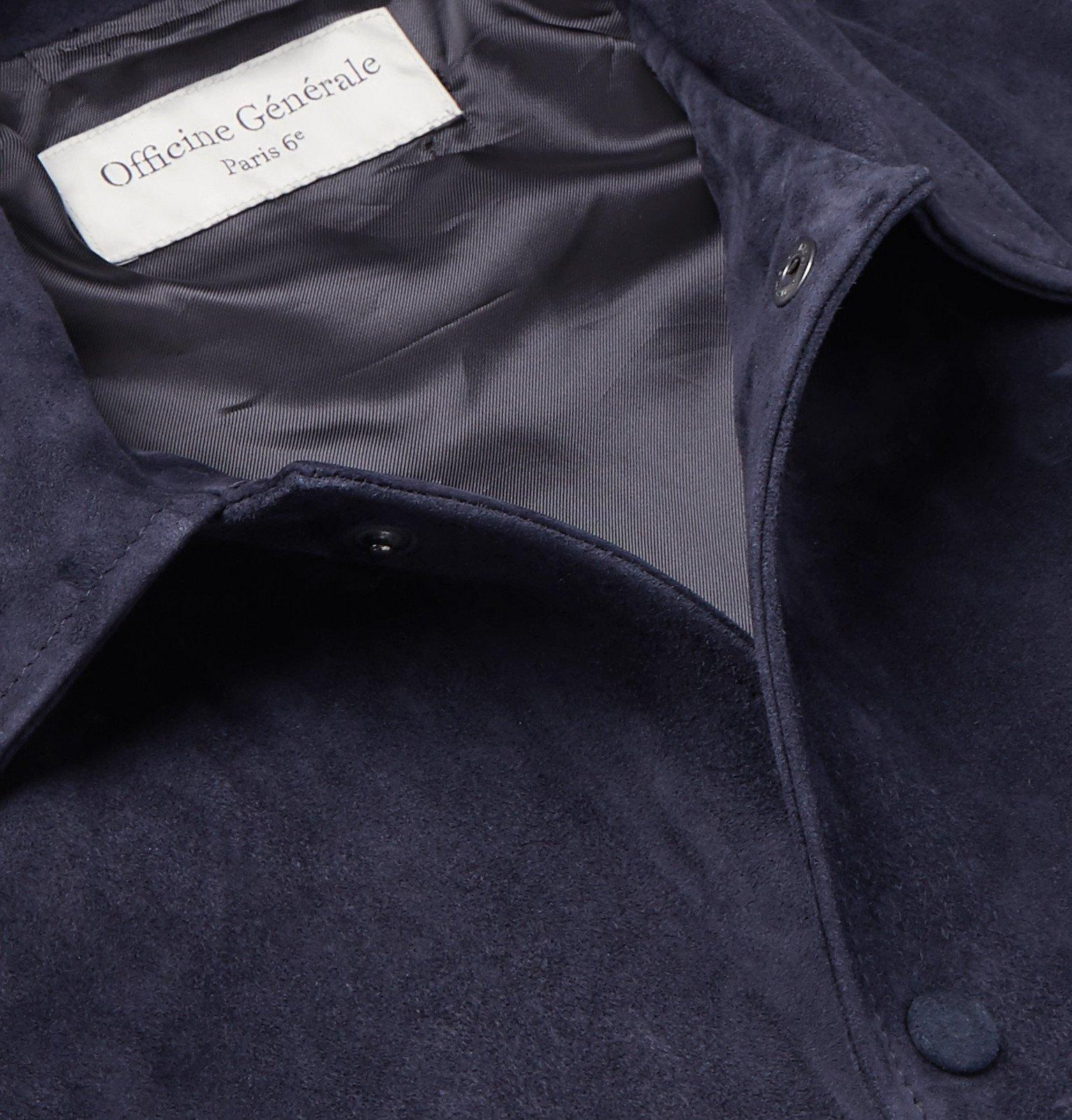 Officine Generale - Suede Blouson Jacket - Blue