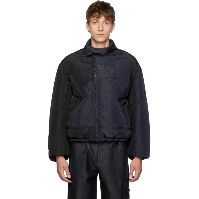 GmbH Black and Navy Harris Puffer Jacket