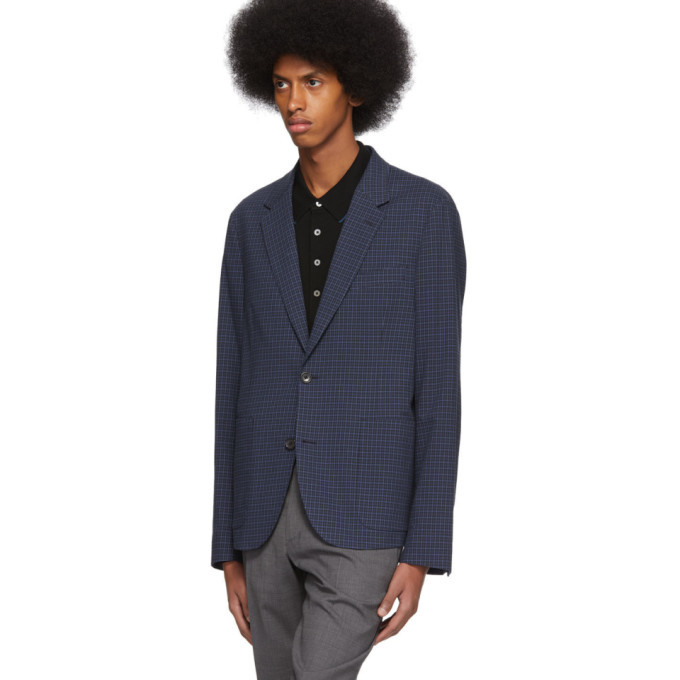 PS by Paul Smith Blue Check Jacket