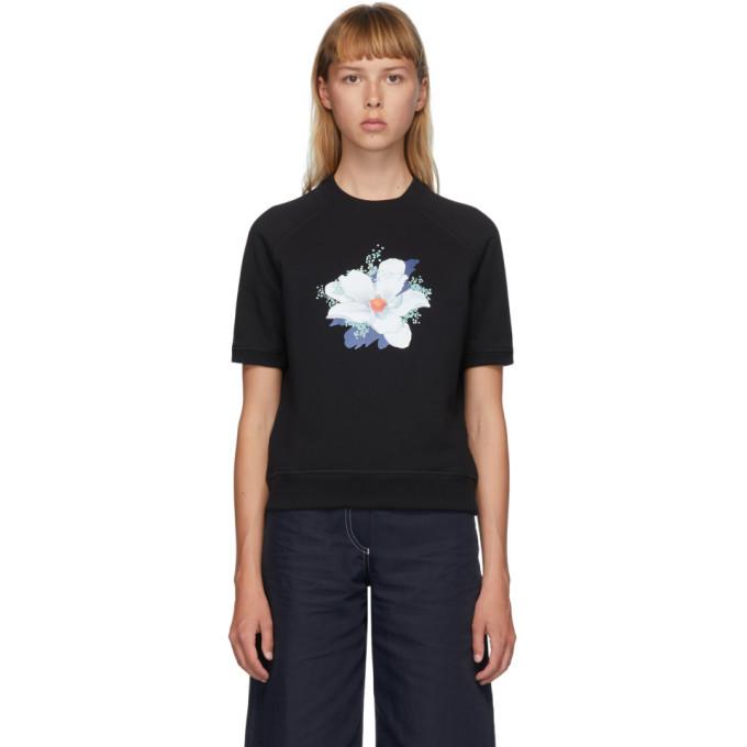Photo: Kenzo Black Vans Edition Floral Short Sleeve Sweatshirt