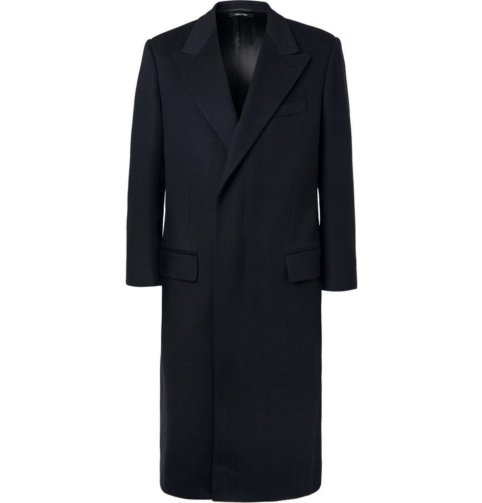 Dunhill - Wool and Cashmere-Blend Overcoat - Men - Navy