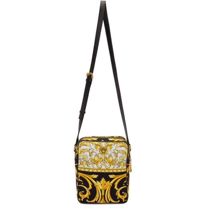 Photo: Versace Black and Gold Barocco Crossbody Bag