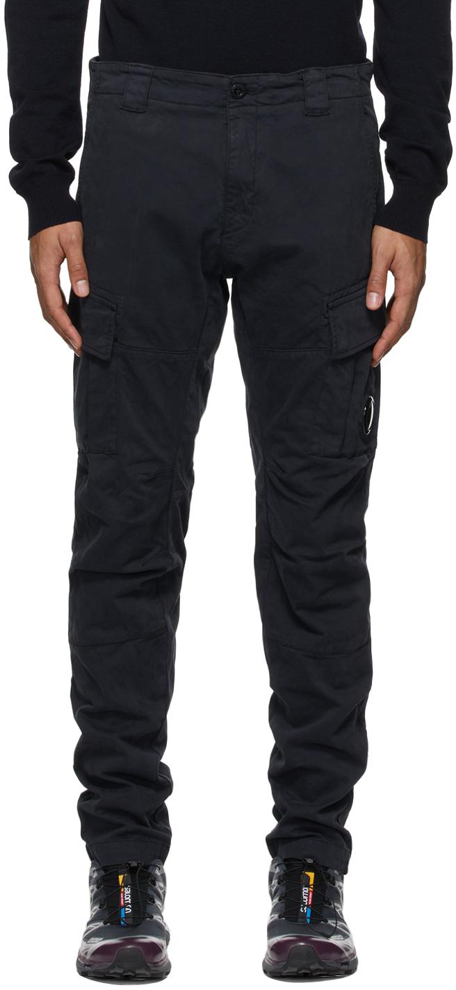 Photo: C.P. Company Navy Stretch Sateen Cargo Pants