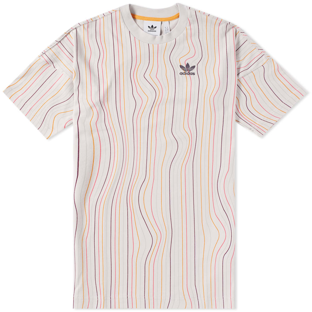 Adidas Warped Stripes Tee Multi