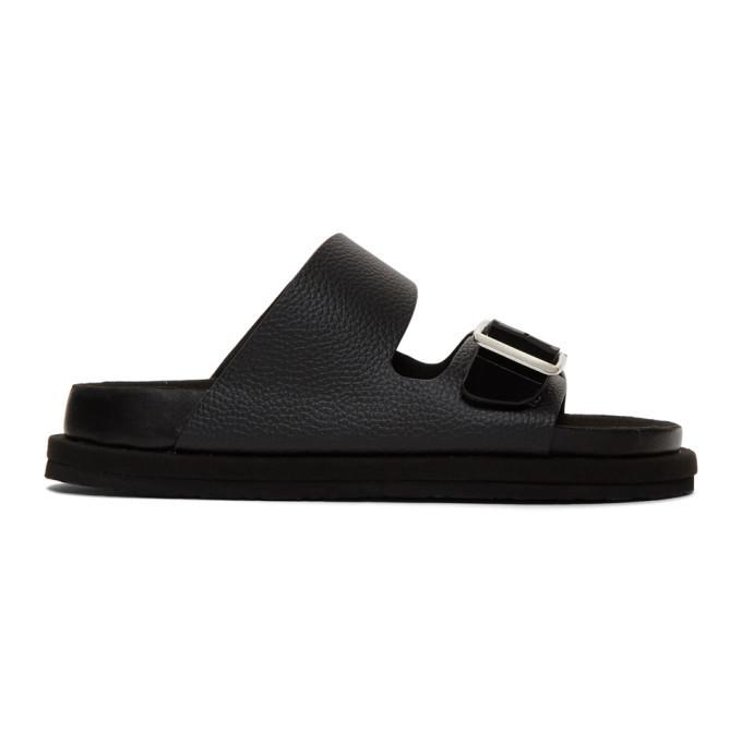 Photo: N.Hoolywood Black Strap Sandals