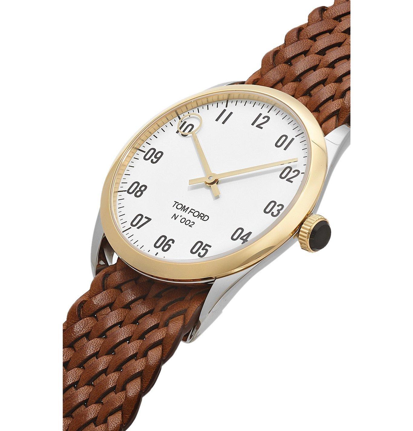 Tom Ford Timepieces - 002 40mm 18-Karat Gold and Alligator Watch - Brown