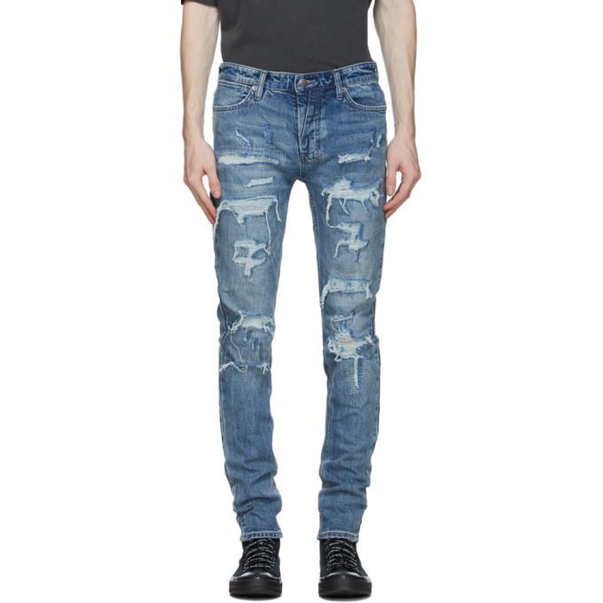 Ksubi Blue Van Winkle Runaway Ripped Jeans