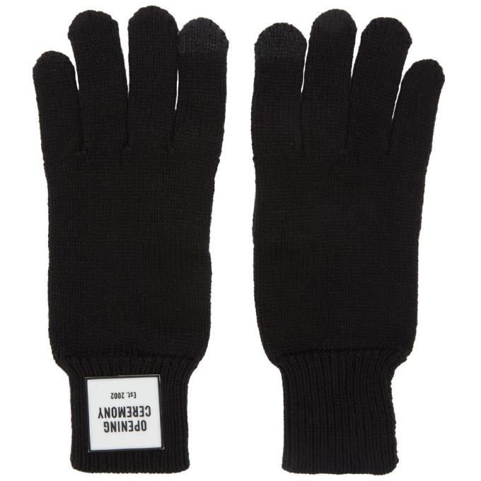 Photo: Opening Ceremony Black Knit Logo Gloves