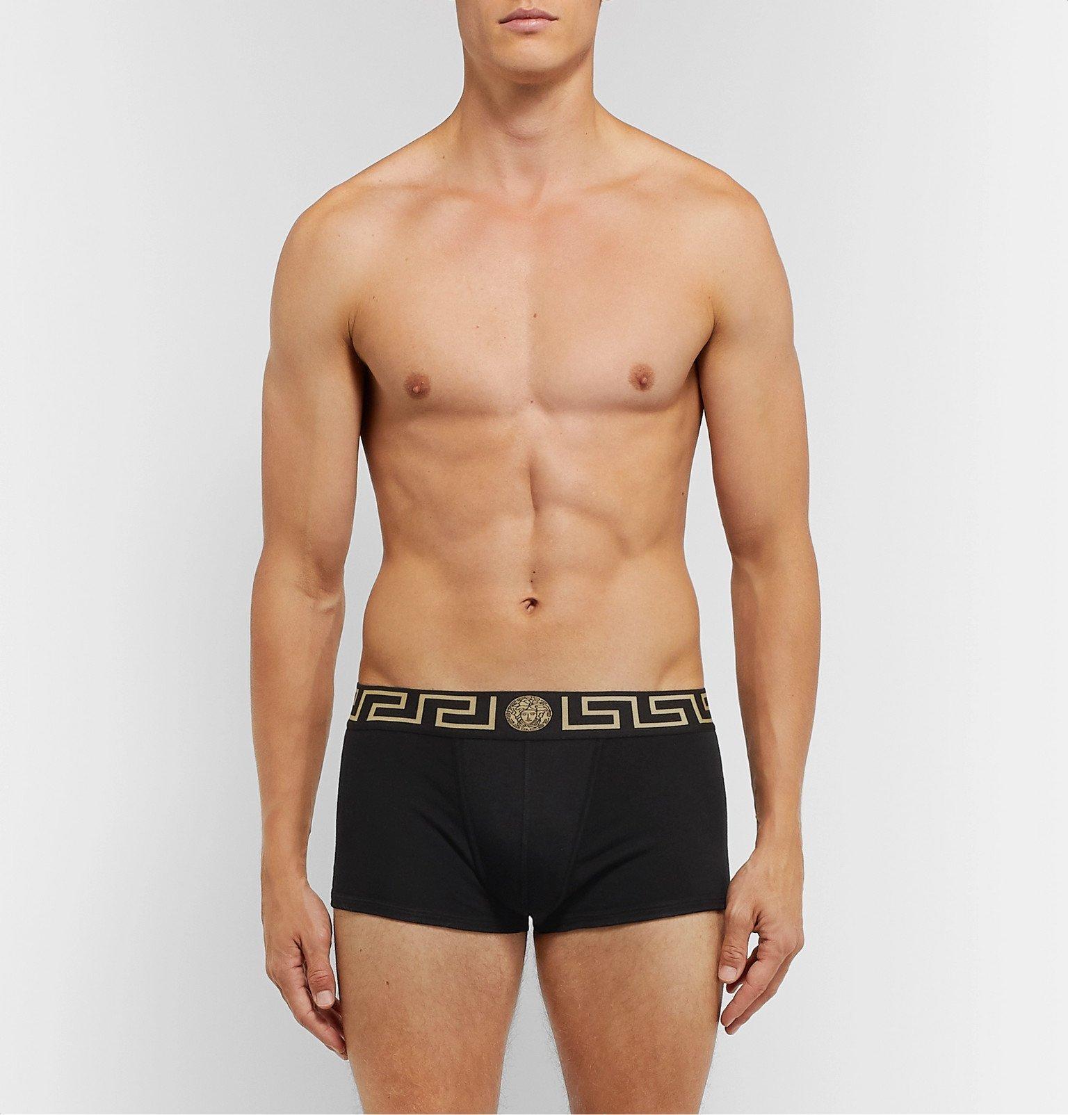 Versace - Stretch-Cotton Boxer Briefs - Black
